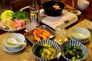 夏の天ぷら、海老天 -