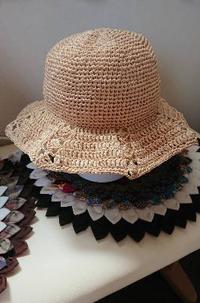 八角形帽子とペーパーバッグ♪ - 空色テーブル  編み物レッスン