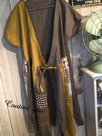 バイカラーのカシュクール羽織ワンピ - couture日より