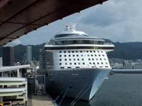 """8月19日(日)、神戸港第4突堤の客船""""QUANTUM OF THE SEAS""""は今日17時の出港予定です - フォトカフェ情報"""