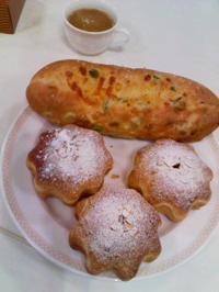 ホームメイドサマーフェスタ、枝豆とコーンの塩バターブレッド、キャラメルソースのクリームパン - kankanの家