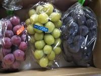美味しい葡萄と美味しくない桃と適当パスタ - ちゃたろうとゆきまま日記