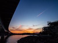 橋の夕景 - シセンのカナタ