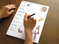 赤りすのウィークリープランナー スケジュール帳 - ブルーベルの森-ブログ-英国カントリーサイドのライフスタイルをつたえる