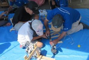 阪神土建労働組合尼崎支部主催の住宅デーへ激励に駆けつける -