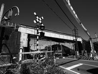 交差する踏切 - 節操のない写真館