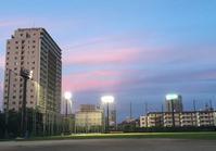 71 南千住野球場の夕暮れ - 荒川区百景、再発見