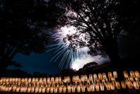 万灯みたま祭護国神社Ⅱ - 長い木の橋