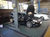 メルセデスベンツCクラス(W204)車検整備(アッパーホース交換他) - 掛川・中央自動車