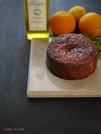 オレンジレモンケーキ@キヨエオリーブオイル - お茶をどうぞ♪