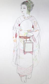 祇園舞妓さんモデル佳つ春ちゃん - 黒川雅子のデッサン  BLOG版