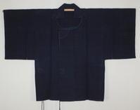 古布木綿庄内紙縒り道中羽織Japanese Antique Textile Michiyuki-coat Koyori-paper - 京都から古布のご紹介