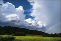 白石の空もよう・・・二重の虹(1) - 花のこみち
