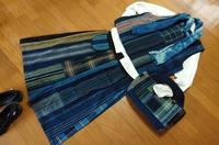 縞 格子接ぎ合わせて被りベスト - 古布や麻の葉