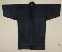 古布木綿庄内江戸紙縒り野良着Edo Japanese Antique Textile Shonai Koyori-paper - 京都から古布のご紹介
