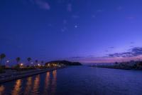 第867回  片瀬橋より - 湘南群青 -The sunset  blue -