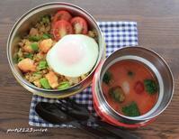 ナシゴレン風ご飯&ガスパチョ風 - 男子高校生のお弁当