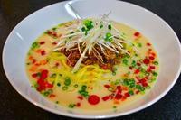 常備菜、和風麻婆肉味噌を使って冷やし豆乳担々麺&おぼろ豆腐の冷やし麻婆。 - キムチ屋修行の道