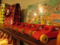 """""""Wooden Toy Red Car #FLEAMARKET""""ってこんなこと。 - THE THREE ROBBERS ってこんなこと。"""