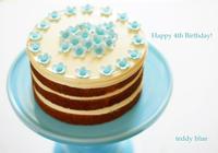 Happy 4th Birthday!  4歳になりました! - teddy blue