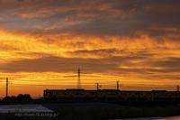 夕日の中を走る - デジタルで見ていた風景
