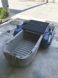 ④フロートボート 自作シート - まめまめの石川県バス釣り奮闘記