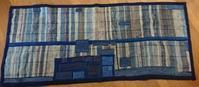裂き織りマット - 古布や麻の葉