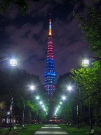 2018.8.25パラリンピックカラーの東京タワー(港区) - ダイヤモンド△△追っかけ記録