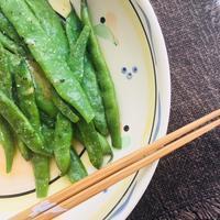 モロッコいんげんの塩麹蒸し、簡単で美味しい夏の味 - 玄米菜食 in ニュージャージー