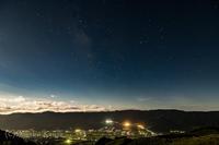 月夜の星空 - 撃沈風景写真