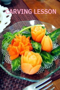 夏のお土産に すいかカービング  横浜タイ料理教室 - 日本でタイメシ ときどき ***