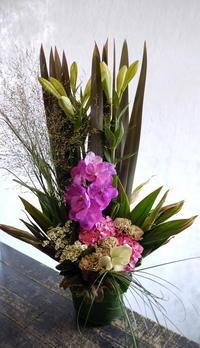 幌加内町でのご葬儀にアレンジメント①。2018/08/24着。 - 札幌 花屋 meLL flowers
