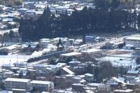 白い屋根、黒い森、白い煙- 東武鬼怒川線・雪 - - ねこの撮った汽車
