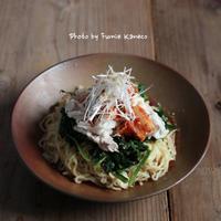 残りもので冷しゃぶの韓国風涼麺 - ふみえ食堂  - a table to be full of happiness -
