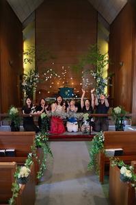 装花レッスン代官山本多記念教会皆様おつかれさまでした - 一会 ウエディングの花