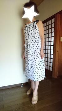 8月27日、70代.浴衣がキャミソールワンピースに変身です。 - 楽しく元気に暮らします