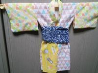 完成!#ちどり子式赤ちゃん浴衣 - B級出張日記