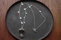 アゲート×アメシストネックレス - 石と銀の装身具