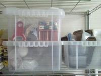 透明プラスチックの道具箱 - Minha Praia