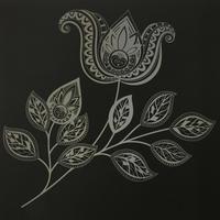 スクラッチアートブックときめきの花削ってみました! - オトナのぬりえ『ひみつの花園』オフィシャル・ブログ