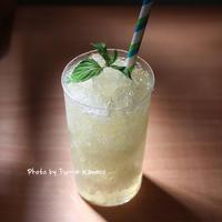 レモングラスジュレのジンソーダ - ふみえ食堂  - a table to be full of happiness -