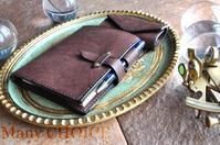 イタリアンレザー・プエブロ・ロディアメモ帳カバーとキーケース・時を刻む革小物 - 時を刻む革小物 Many CHOICE~ 使い手と共に生きるタンニン鞣しの革