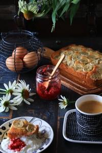 バナナブレッドの朝食 - ゆきなそう  猫とガーデニングの日記