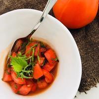 トマトの中華風マリネ - 玄米菜食 in ニュージャージー
