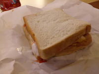 A Filipino Ham&Egg Sandwich served in a restaurant - SONGS