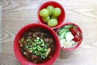 麻婆豆腐のお弁当とむぎちゃんのお喋り♪ - オヤコベントウ