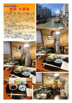 柳橋 大黒家  娘と東京の天ぷらを楽しんでみました。