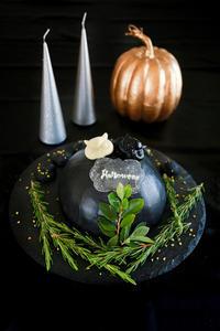Halloween!ブラックドームケーキcotta - のんびりのびのび