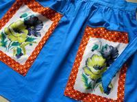 花柄パネルのポケットのビンテージ・エプロン -  Der Liebling ~蚤の市フリークの雑貨手帖2冊目~