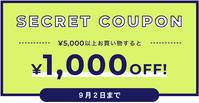 3日間限定、1,000円引きクーポンが発行されました - 下呂温泉 留之助商店 店主のブログ